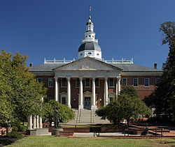 Maryland State House von der College Ave.JPG
