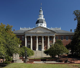 Spiro Agnew - The Maryland State House, Annapolis, the seat of the state government