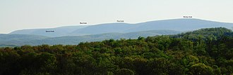 Blue Knob (Pennsylvania) - The Blue Knob massif from Chimney Rocks