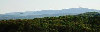Blue Knob (Pennsylvania) - The Blue Knob massif from Chimney Rocks