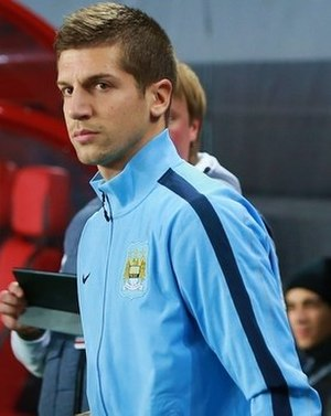 Matija Nastasić - Nastasić playing for Manchester City, 2013.