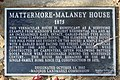 Mattermore-Malaney House - plaque.JPG