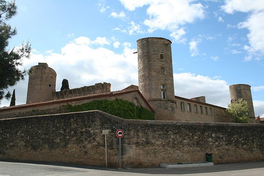 Maureilhan (Hérault) - château, façades nord et ouest.
