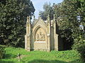 Mausoleum in Churchyard of the Church of St George Grade II Llan San Sior, Sir Conwy, Cymru St George, North Wales 30.JPG