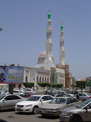 Religion in Libya - Worshipers gather at Mawlai Muhammad Mosque, Tripoli.