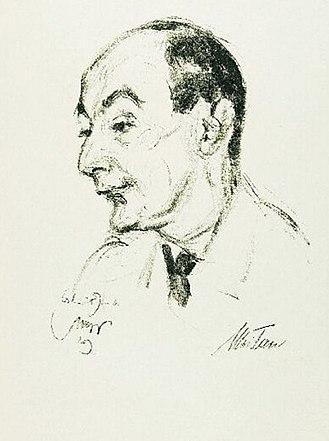 Max Tau - Max Tau, the lithograph by Emil Stumpp, 1929
