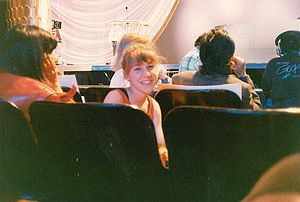 Mayim Biyalik at the rehearsal for the 1989 Ac...