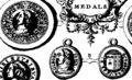 Medals, coins, great-seals, impressions, from the elaborate works of Thomas Simon, chief Engraver of the Mint Fleuron T138030-9.png