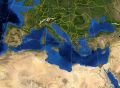 Mediterranean Sea political map-blank.svg