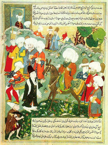Ficheiro:Meeting of Jalal al-Din Rumi and Molla Shams al-Din.jpg