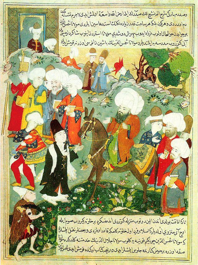 Meeting_of_Jalal_al-Din_Rumi_and_Molla_Shams_al-Din.jpg: Meeting of Jalal al-Din Ru