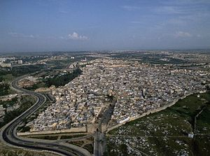Meknes - Aerial view of the west part of Meknes Médina