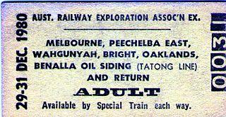 Wahgunyah railway line