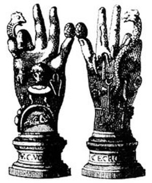 Bernard de Montfaucon - The Emblematic Hand of the Mysteries (in Antiquitas explanatione et schematibus illustrata)