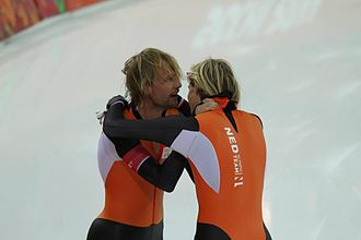 Speed skating at the 2014 Winter Olympics – Men's 500 metres - The twins Michel Mulder and Ronald Mulder finished first and third