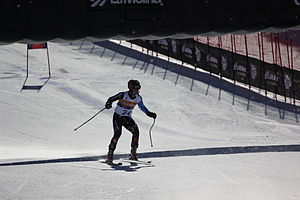 Jakub Krako - Krako at the 2013 IPC World Championships in the downhill event where he finished in last place