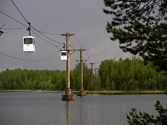Norsjö ropeway - Passenger traffic on section IV (2011)