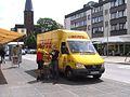Mercedes-Benz Sprinter ~ DHL ~ Dreieinigkeitskirche Eschweiler.JPG