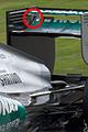 Mercedes F1 W03 rear wing hole 2012 Malayisia with F-duct.JPG