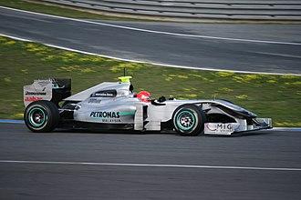 Open-wheel car - Image: Mercedes MGP W01 Jerez 2010 2