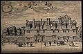 Merton College, Oxford. Line engraving by D. Loggan after hi Wellcome V0014130.jpg