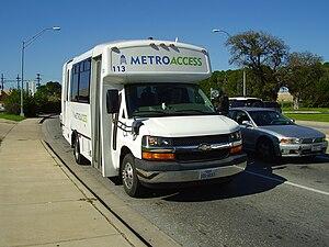 Capital Metropolitan Transportation Authority - Metro Access vehicle
