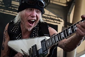 Michael Schenker - Schenker performing live at the Rock Hard Festival in 2015