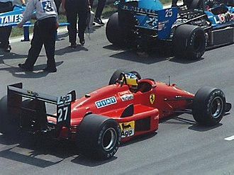 Michele Alboreto - Alboreto in 1988, driving for Scuderia Ferrari.