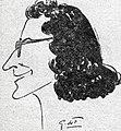 Micheline Ostermeyer croquée par G. de Ferrier en 1947.jpg