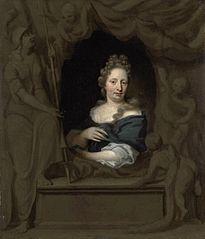 Portrait of Eva Visscher, wife of Michiel van Musscher