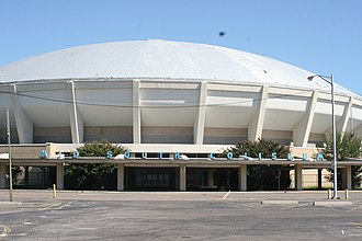 Memphis Tigers men's basketball - The Mid-South Coliseum, home of the Tigers from 1966 to 1991.