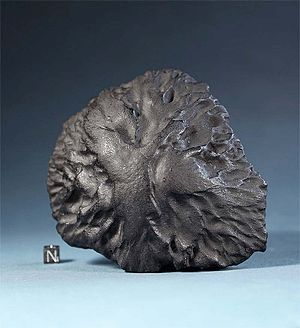 Middlesbrough meteorite - A cast of the Middlesbrough meteorite