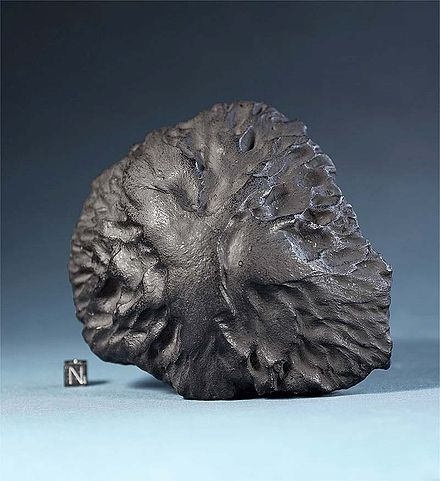 Cast of the Middlesbrough meteorite which was identified by Herschel
