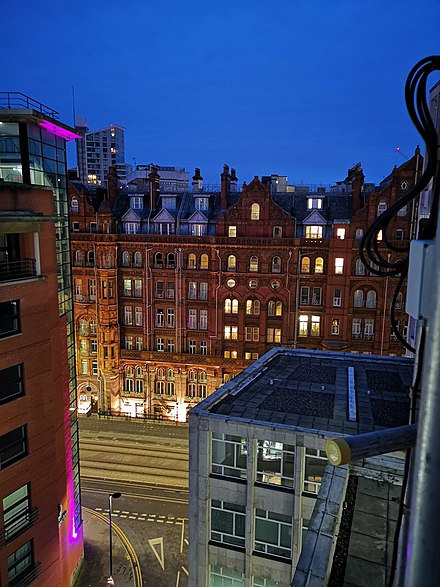 Midland Hotel at Night Midland Hotel Manchester at Night.jpg
