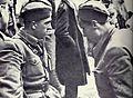 Mile Kilibarda in Mirko Bračič pred napadom na Kočevje 1943.jpg