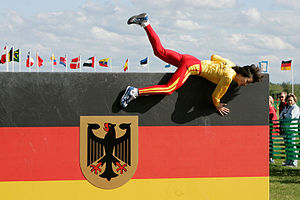 Obstacle course - Military pentathlon in Germany