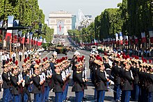 Military ceremony in Paris 2017 with Trump and Macron.jpg