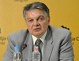 Deputy Prime Minister of Serbia - Image: Milovan Bojic mc.rs