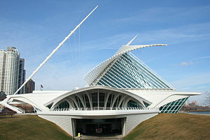Milwaukee Art Museum - Milwaukee Art Museum from the south