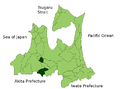 Minamitsugaru District in Aomori Prefecture.png