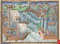 Miniature of the Christian fleet approaching Gaeta.jpg