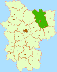 Location of Barysaw District