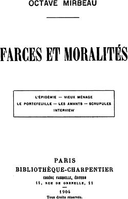 Farces et moralit s wikimonde for Definition de la farce
