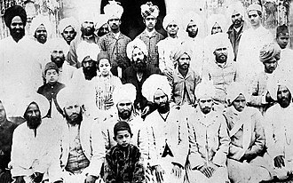 Mirza Ghulam Ahmad - Mirza Ghulam Ahmad (seated centre) with some of his companions at Qadian c.1899