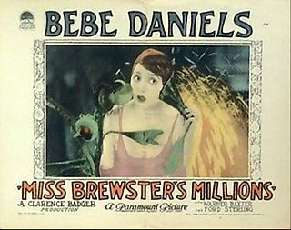 <i>Miss Brewsters Millions</i> 1926 film by Clarence G. Badger