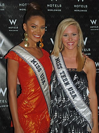 Miss Universe - Crystle Stewart, Miss USA 2008 and Stevi Perry, Miss Teen USA 2008