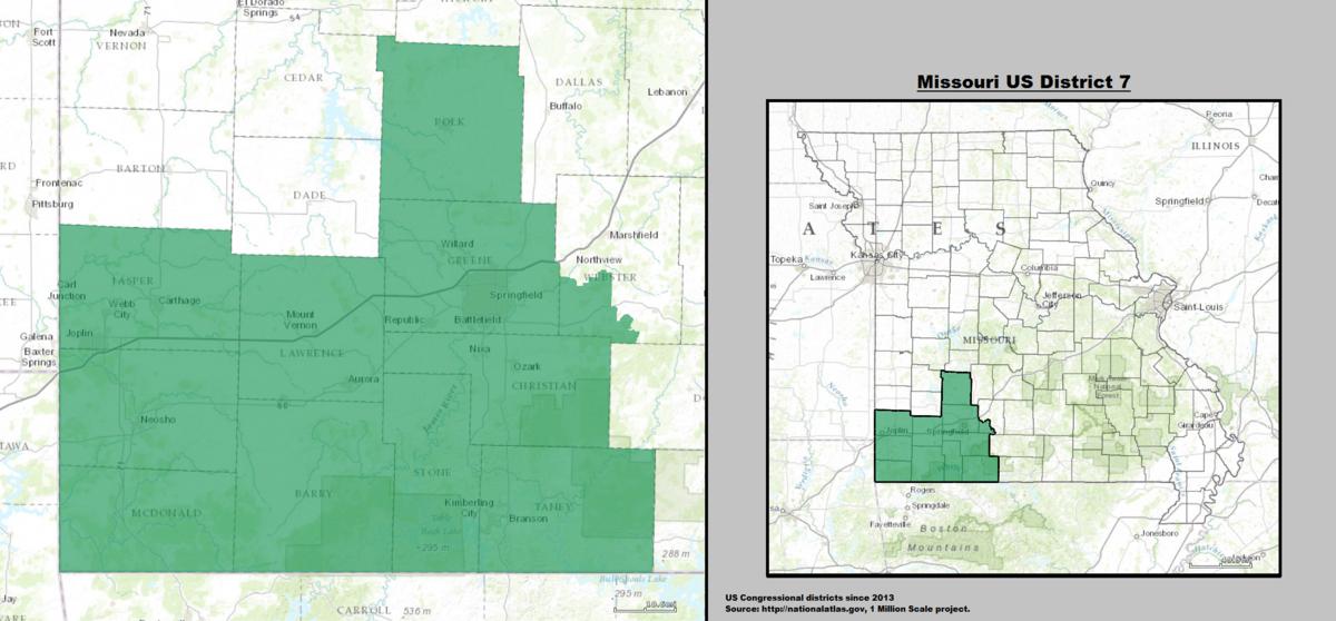 Missouris Th Congressional District Wikipedia - Mo us representatives map