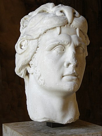 Portrait of the king of Pontus Mithridates VI ...