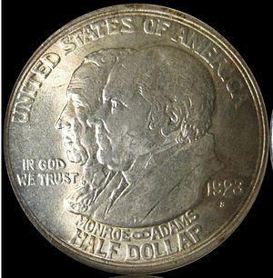Monroe Doctrine Centennial half dollar - Image: Monroe Doctrine Centennial half dollar obverse