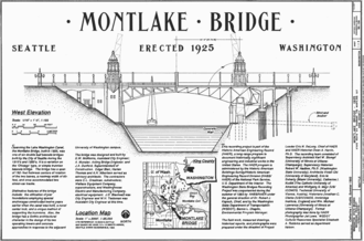 Montlake Bridge - Image: Montlake Bridge HAER